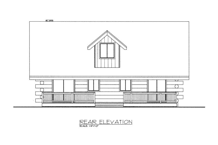 Log House Plan 85871 Rear Elevation