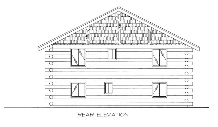 Log Garage Plan 85876 Rear Elevation
