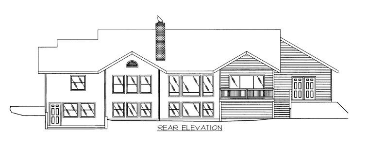 Country House Plan 85878 Rear Elevation