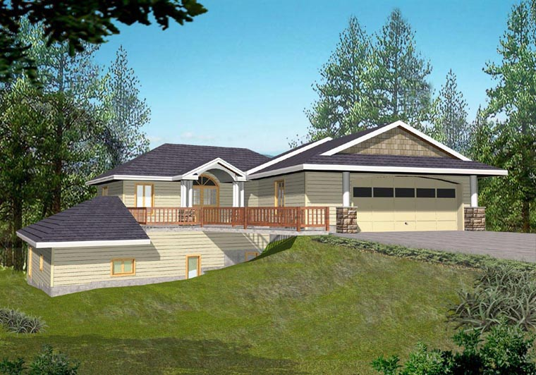 House Plan 85879 with 3 Beds, 3 Baths, 2 Car Garage Elevation