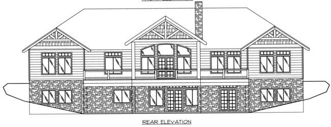 European House Plan 85880 Rear Elevation