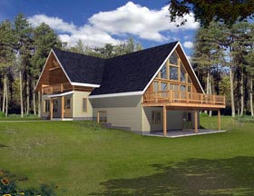 House Plan 85882 Elevation
