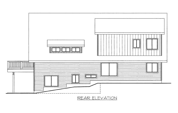 House Plan 85882 Rear Elevation