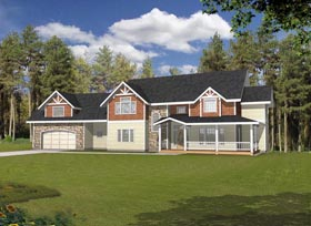 House Plan 85883 with 6 Beds, 5 Baths, 2 Car Garage Elevation