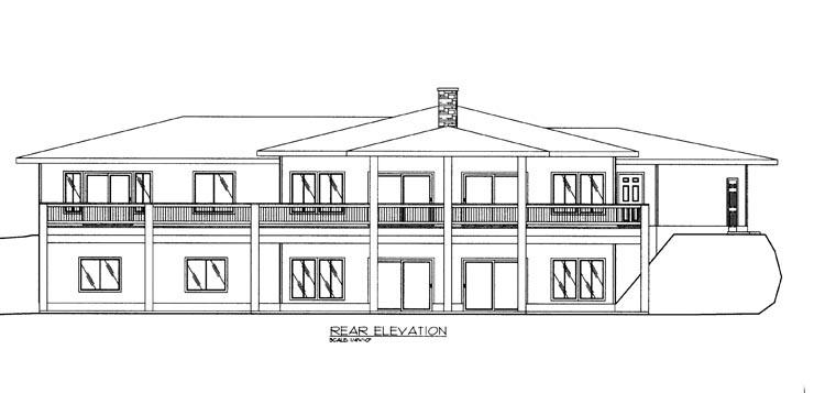 House Plan 85884 Rear Elevation