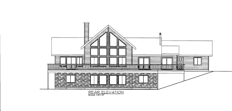 House Plan 85885 Rear Elevation