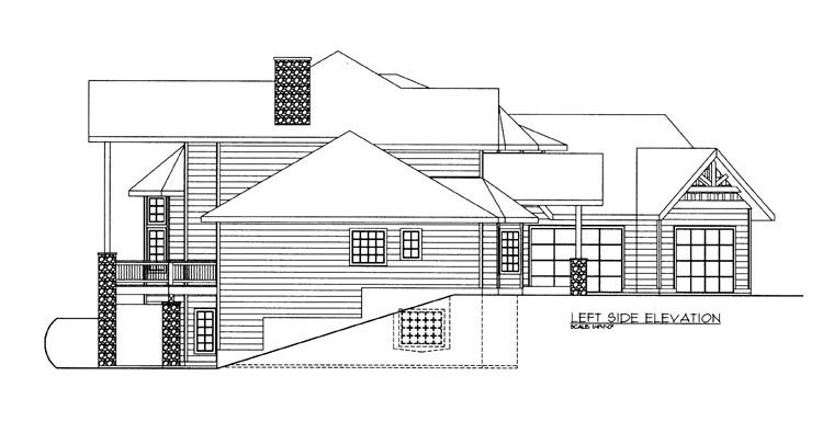 Contemporary House Plan 85886 with 4 Beds, 4 Baths, 3 Car Garage Picture 1