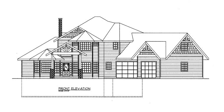 Contemporary House Plan 85886 with 4 Beds, 4 Baths, 3 Car Garage Picture 2