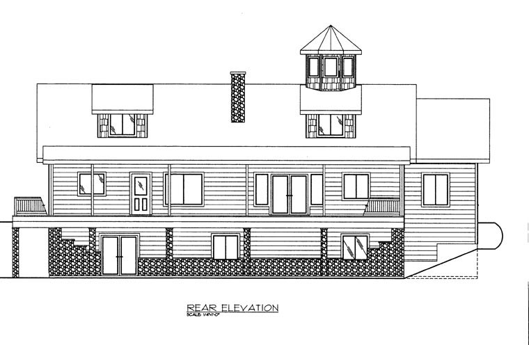 Coastal House Plan 85887 Rear Elevation