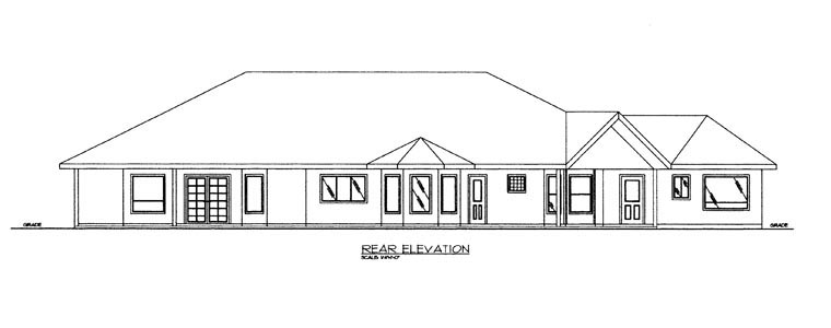 Contemporary House Plan 85888 Rear Elevation