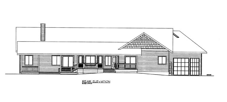 House Plan 85889 Rear Elevation