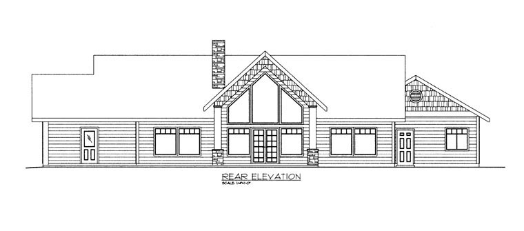 House Plan 85890 Rear Elevation