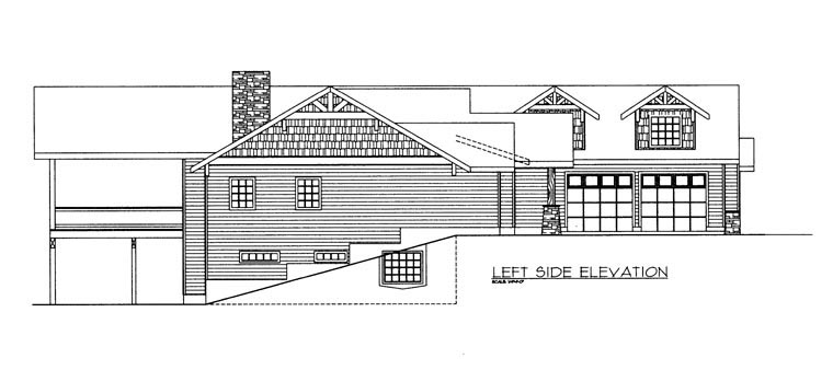 House Plan 85891 with 4 Beds, 4 Baths, 3 Car Garage Picture 1