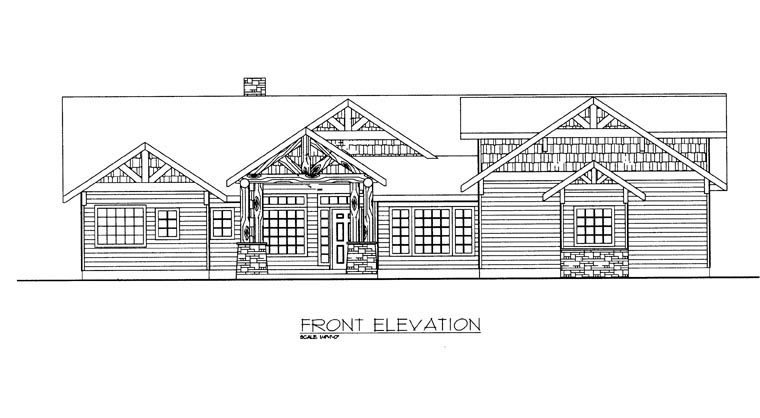 House Plan 85891 with 4 Beds, 4 Baths, 3 Car Garage Picture 2