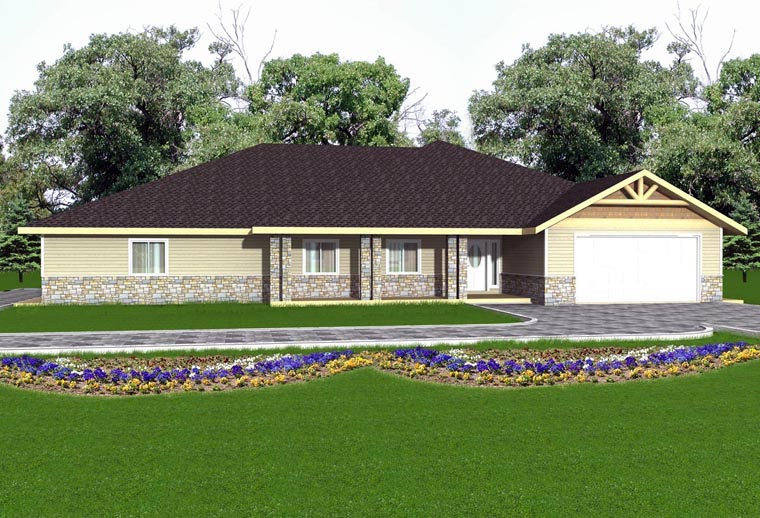 House Plan 85893 Elevation