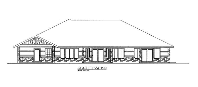 House Plan 85893 Rear Elevation