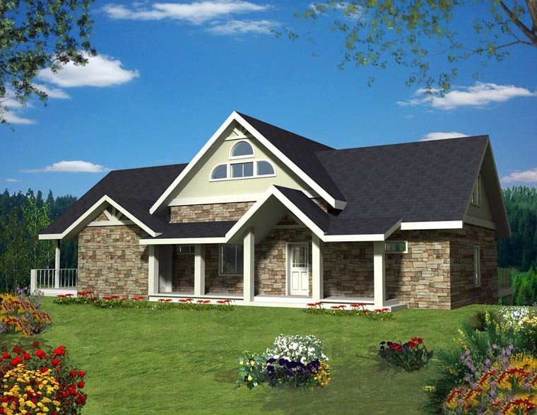 House Plan 85898 Elevation