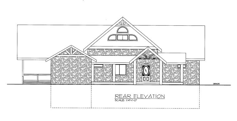 House Plan 85898 Rear Elevation