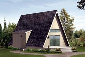 A-Frame Cabin House Plan 85944 Elevation