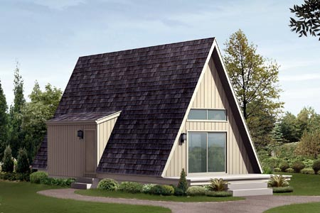 A-Frame Cabin House Plan 85944 Elevation