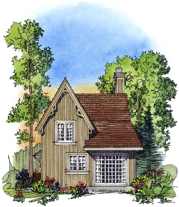Bungalow Victorian House Plan 86001 Rear Elevation