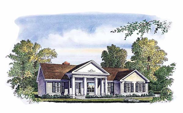 Colonial Southern House Plan 86002 Elevation