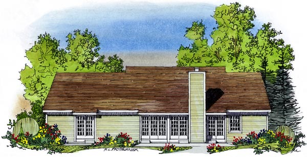 Colonial Southern House Plan 86002 Rear Elevation