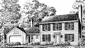 Colonial, Southern House Plan 86003 with 3 Beds, 3 Baths, 2 Car Garage Elevation