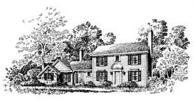 Colonial House Plan 86005 Elevation