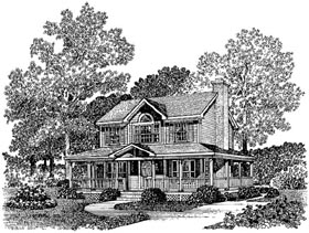 Country Farmhouse Southern House Plan 86007 Elevation