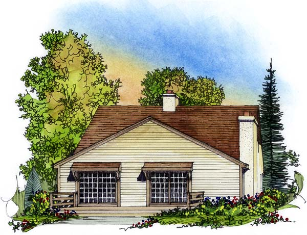Traditional House Plan 86009 Rear Elevation