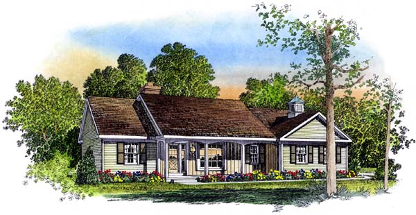 Ranch House Plan 86010 Elevation