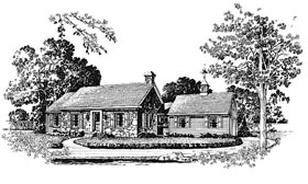 Cabin Ranch House Plan 86011 Elevation