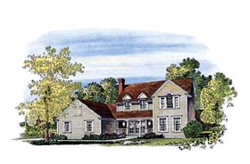 House Plan 86012 | Country Farmhouse Style Plan with 2415 Sq Ft, 4 Bedrooms, 3 Bathrooms, 2 Car Garage Elevation