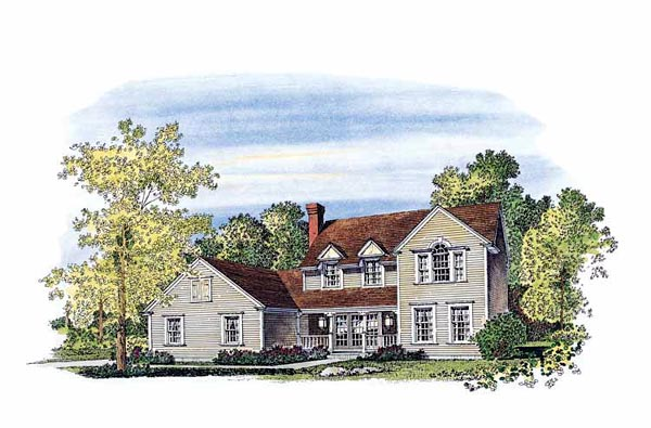 Country Farmhouse House Plan 86012 Elevation