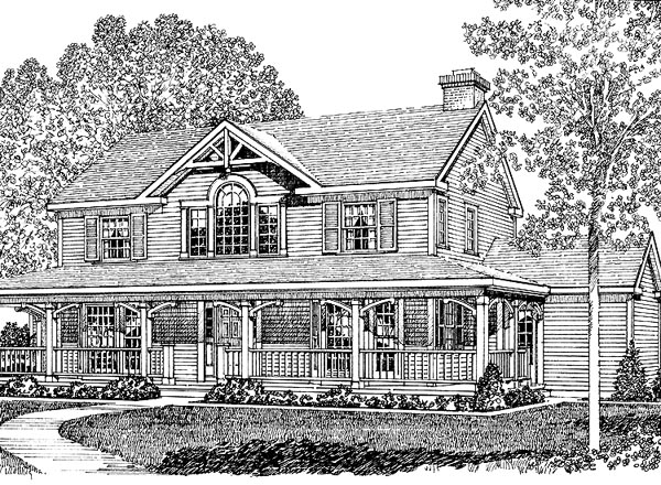 Country , Southern House Plan 86013 with 3 Beds, 3 Baths, 2 Car Garage Elevation