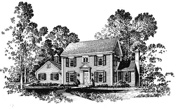House Plan 86015 | Colonial Southern Style Plan with 2154 Sq Ft, 3 Bedrooms, 3 Bathrooms, 2 Car Garage Elevation