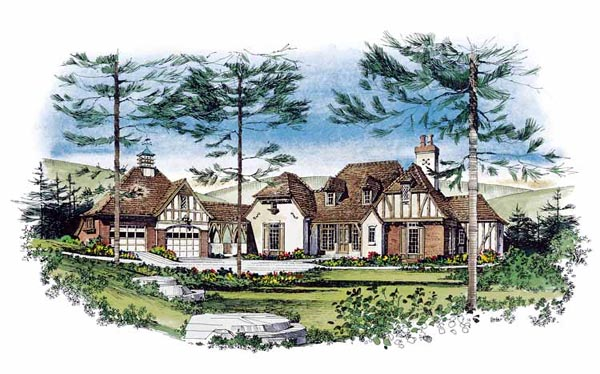 Tudor House Plan 86016 Elevation