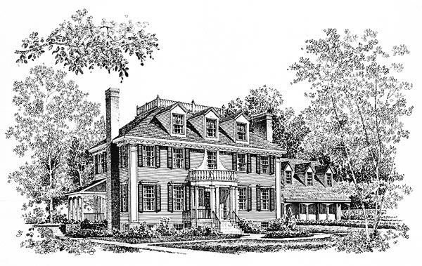 Colonial Southern House Plan 86017 Elevation