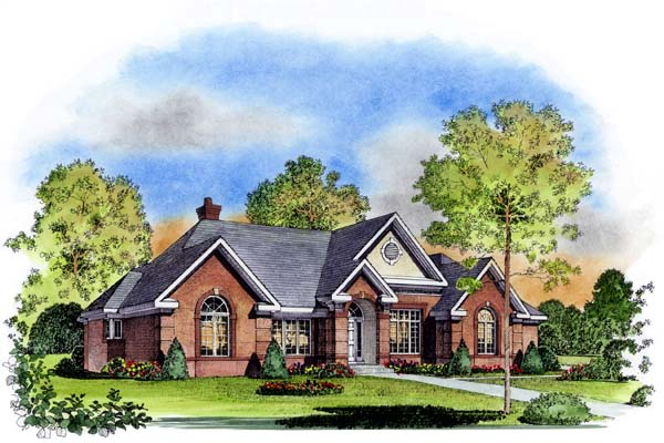 European Tudor House Plan 86021 Elevation