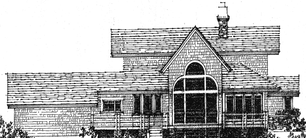 Craftsman European House Plan 86022 Rear Elevation