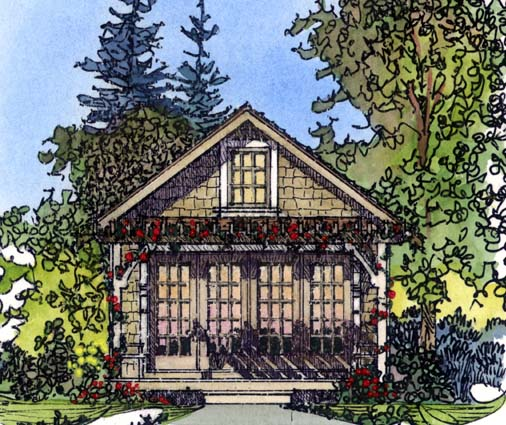 Cabin Craftsman House Plan 86026 Elevation
