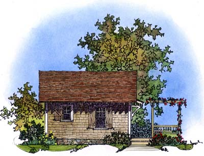 Cabin Craftsman House Plan 86026 Rear Elevation