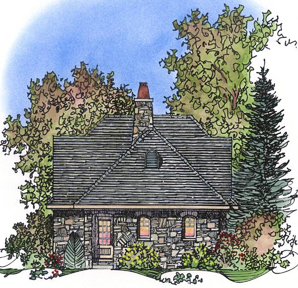 Bungalow Craftsman Tudor House Plan 86028 Rear Elevation