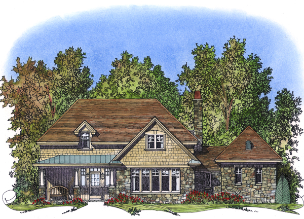 Craftsman Tudor House Plan 86031 Elevation