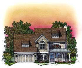 Country Traditional House Plan 86032 Elevation
