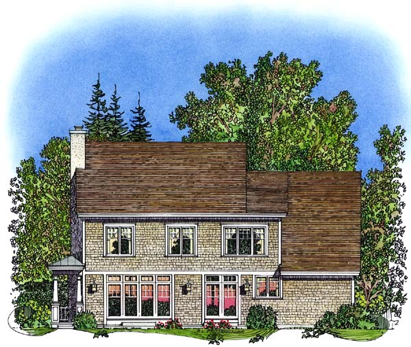 Country Traditional House Plan 86032 Rear Elevation