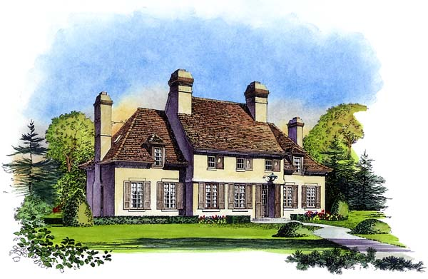 European House Plan 86033 Elevation