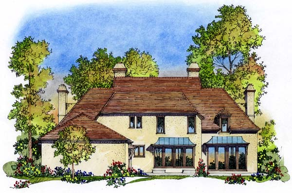 European House Plan 86033 Rear Elevation