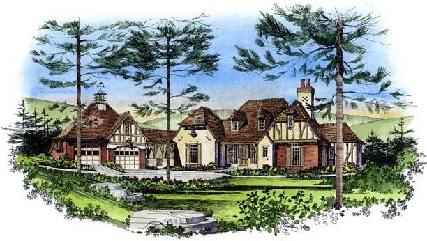 European Tudor House Plan 86034 Elevation